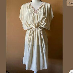 Ulla Johnson Silk Peasant Cutout Blouson Dress 10